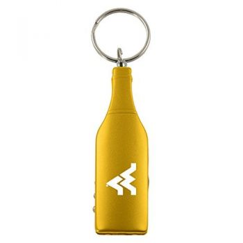 West Virginia University -Wine Shaped Bottle Opener-Gold
