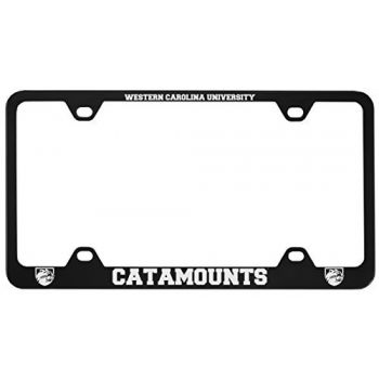 Western Carolina University -Metal License Plate Frame-Black
