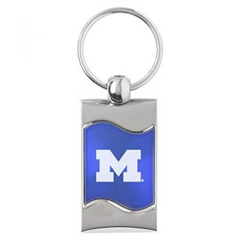 University of Michigan - Wave Key Tag - Blue
