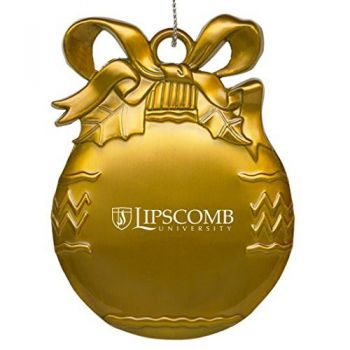 Lipscomb University - Pewter Christmas Tree Ornament - Gold