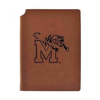 University of Memphis Velour Journal with Pen Holder|Carbon Etched|Officially Licensed Collegiate Journal|