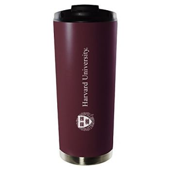 Harvard University-16oz. Stainless Steel Vacuum Insulated Travel Mug Tumbler-Burgundy