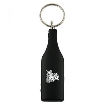 Mississippi Valley State University-Wine Shaped Bottle Opener-Black