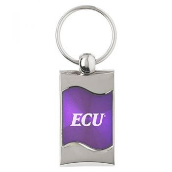 East Carolina University - Wave Key Tag - Purple