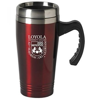 Loyola University Chicago-16 oz. Stainless Steel Mug-Burgundy