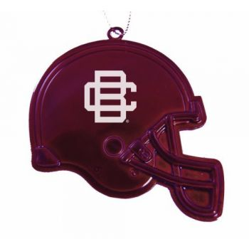 Bethune - Christmas Holiday Football Helmet Ornament - Burgundy
