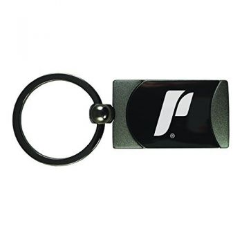 The University of Portland-Two-Toned Gun Metal Key Tag-Gunmetal