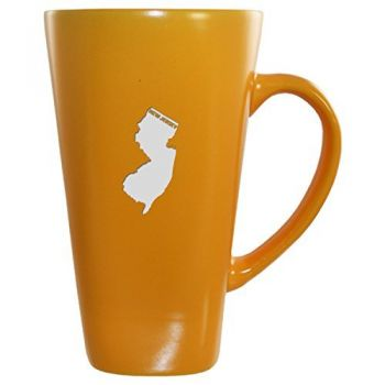 16 oz Square Ceramic Coffee Mug - New Jersey State Outline - New Jersey State Outline