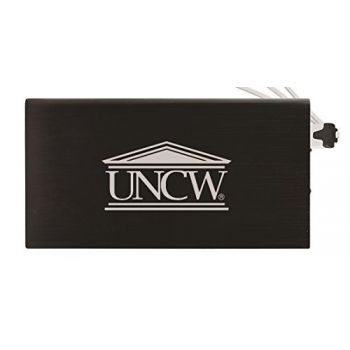 8000 mAh Portable Cell Phone Charger-University of North Carolina Wilmington -Black