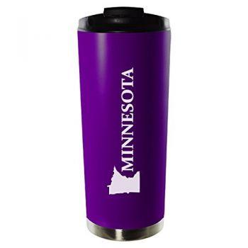 16 oz Vacuum Insulated Tumbler with Lid - Minnesota State Outline - Minnesota State Outline