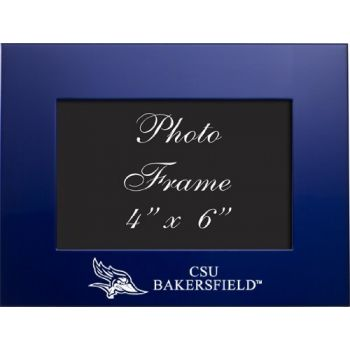 California State University, Bakersfield - 4x6 Brushed Metal Picture Frame - Blue