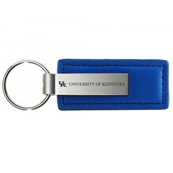 University of Kentucky - Leather and Metal Keychain - Blue