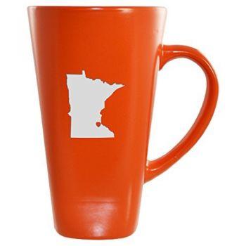 16 oz Square Ceramic Coffee Mug - I Heart Minnesota - I Heart Minnesota