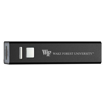 Wake Forest University - Portable Cell Phone 2600 mAh Power Bank Charger - Black