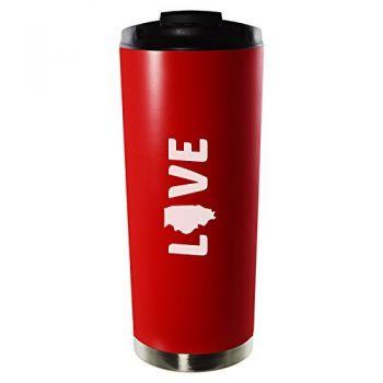 16 oz Vacuum Insulated Tumbler with Lid - Illinois Love - Illinois Love