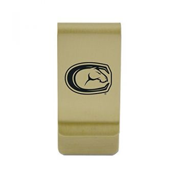 University at Buffalo-The State University of New York|Money Clip with Contemporary Metals Finish|Solid Brass|High Tension Clip to Securely Hold Cash, Cards and ID's|Silver