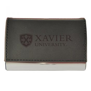 Velour Business Cardholder-Xavier University-Black
