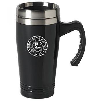Prairie View A&M University-16 oz. Stainless Steel Mug-Black
