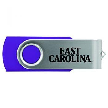 East Carolina University-8GB 2.0 USB Flash Drive-Purple