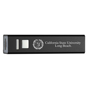 California State University, Long Beach - Portable Cell Phone 2600 mAh Power Bank Charger - Black