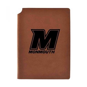 Monmouth University Velour Journal with Pen Holder|Carbon Etched|Officially Licensed Collegiate Journal|