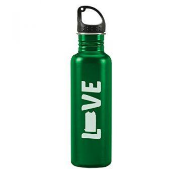 Pennsylvania-State Outline-Love-24-ounce Sport Water Bottle-Green