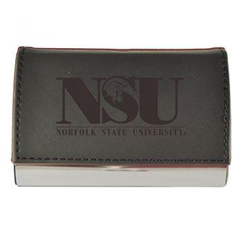 Velour Business Cardholder-Norfolk State University-Black