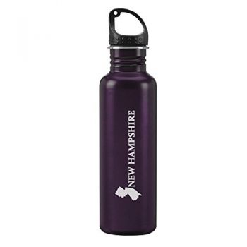 24 oz Reusable Water Bottle - New Jersey State Outline - New Jersey State Outline