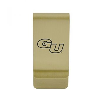 George Mason University |Money Clip with Contemporary Metals Finish|Solid Brass|High Tension Clip to Securely Hold Cash, Cards and ID's|Silver