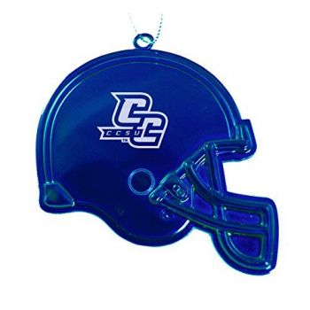 Central Connecticut State University - Chirstmas Holiday Football Helmet Ornament - Blue