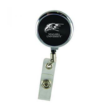 Niagara University-Retractable Badge Reel-Black