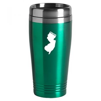 16 oz Stainless Steel Insulated Tumbler - New Jersey State Outline - New Jersey State Outline