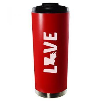 16 oz Vacuum Insulated Tumbler with Lid - Louisiana Love - Louisiana Love