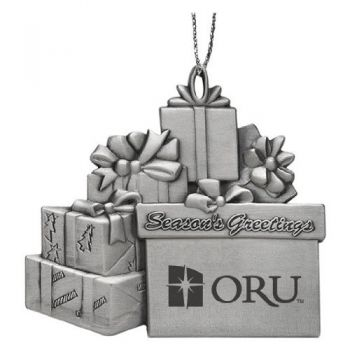Oral Roberts University - Pewter Gift Package Ornament