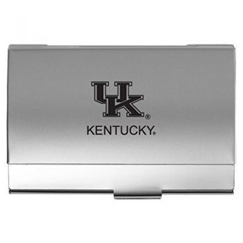 University of Kentucky - Two-Tone Business Card Holder - Silver