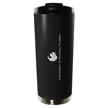 University of Central Florida-16oz. Stainless Steel Vacuum Insulated Travel Mug Tumbler-Black