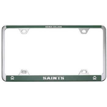 Siena College-Metal License Plate Frame-Green
