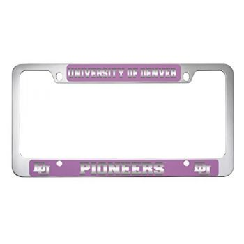 University of Denver-Metal License Plate Frame-Pink
