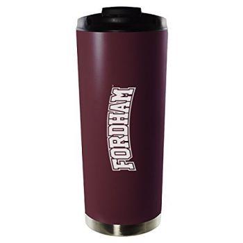 Fordham University-16oz. Stainless Steel Vacuum Insulated Travel Mug Tumbler-Burgundy