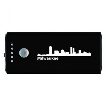 Milwaukee, Wisconsin-Portable Cell Phone 5200 mAh Power Bank Charger-Black