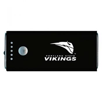 Portland State University -Portable Cell Phone 5200 mAh Power Bank Charger -Black