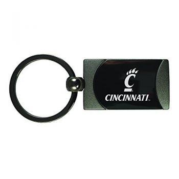 University of Cincinnati -Two-Toned Gun Metal Key Tag-Gunmetal