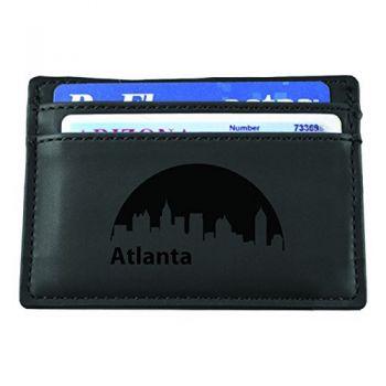 Slim Wallet with Money Clip - Atlanta City Skyline