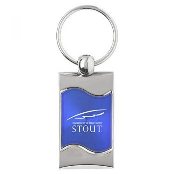 University of Wisconsin–Stout - Wave Key Tag - Blue