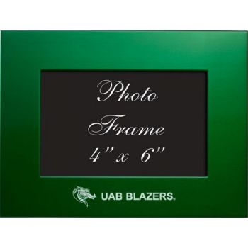 University of Alabama at Birmingham - 4x6 Brushed Metal Picture Frame - Green