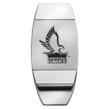 University of Hartford - Two-Toned Money Clip - Silver