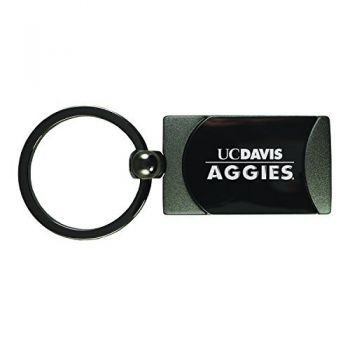 University of California, Davis -Two-Toned gunmetal Key Tag-Gunmetal