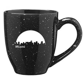 16 oz Ceramic Coffee Mug with Handle - Miami City Skyline
