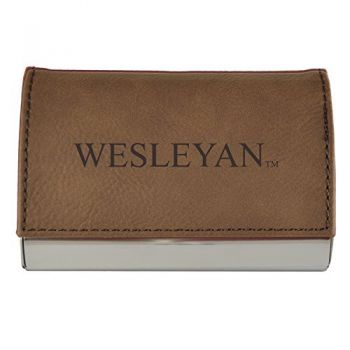 Velour Business Cardholder-Wesleyan University-Brown