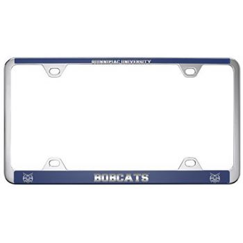 Quinnipiac University -Metal License Plate Frame-Blue